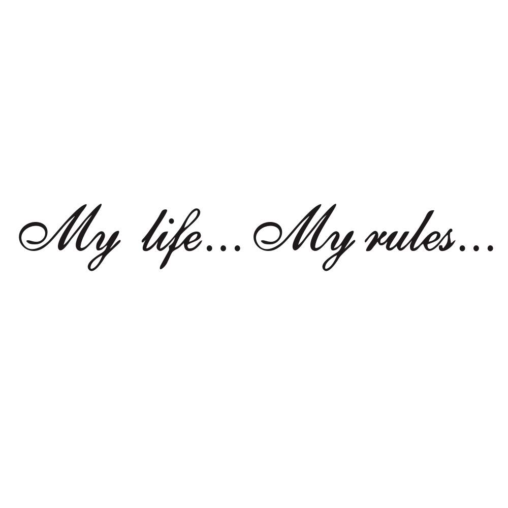 Automatic sticker my life my rules Words Pattern Car Stickers Decoration Decals black