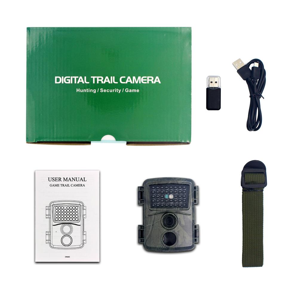 12MP 1080P Trail Camera Wildcamera Wild Surveillance Night Version Wildlife Scouting Cameras Photo Traps Track PR600A