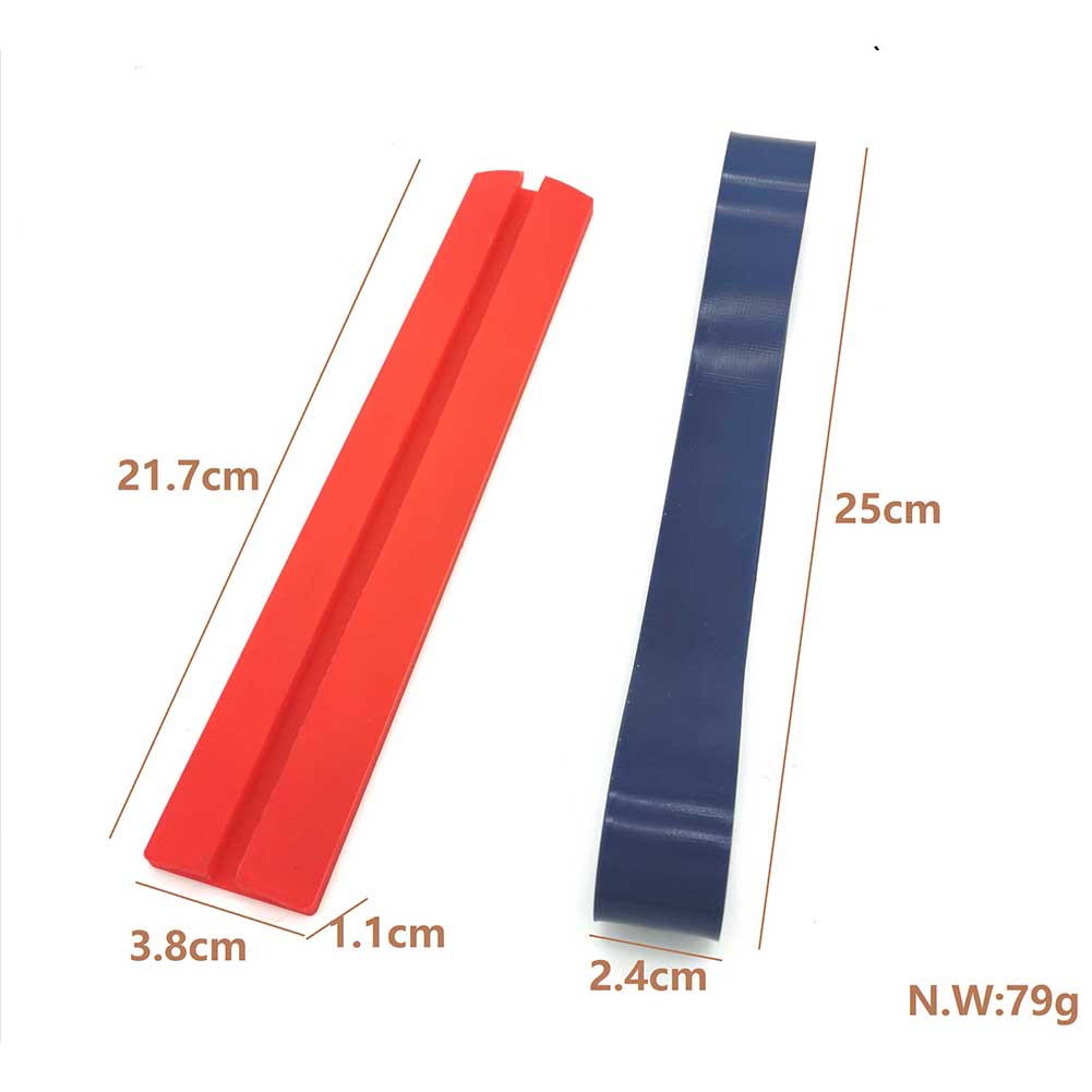Gen2 Neck Styling Ruler Neckline Shaving Template and Hair Trimming Guide red