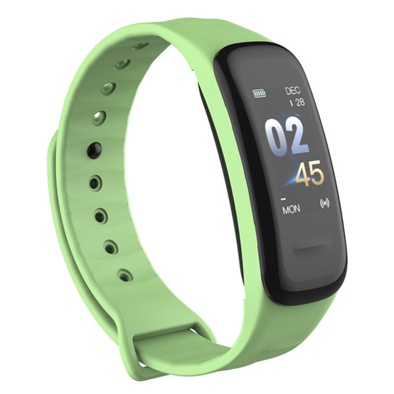 Smart Bracelet Color-screen Fitness Tracker Blood Pressure Heart Rate Monitor Sleep Tracker Wristband for Android IOS green