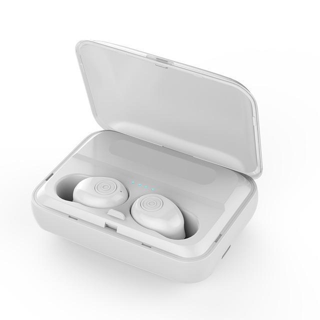 F9 TWS Bluetooth Earphones with Mic white
