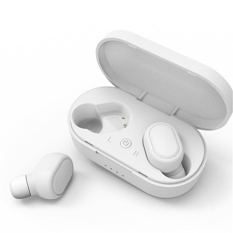 M1 Wireless Headphones Bluetooth 5.0 TWS Earphone Bluetooth Headset HiFi Running Mini Sports Earphone  White