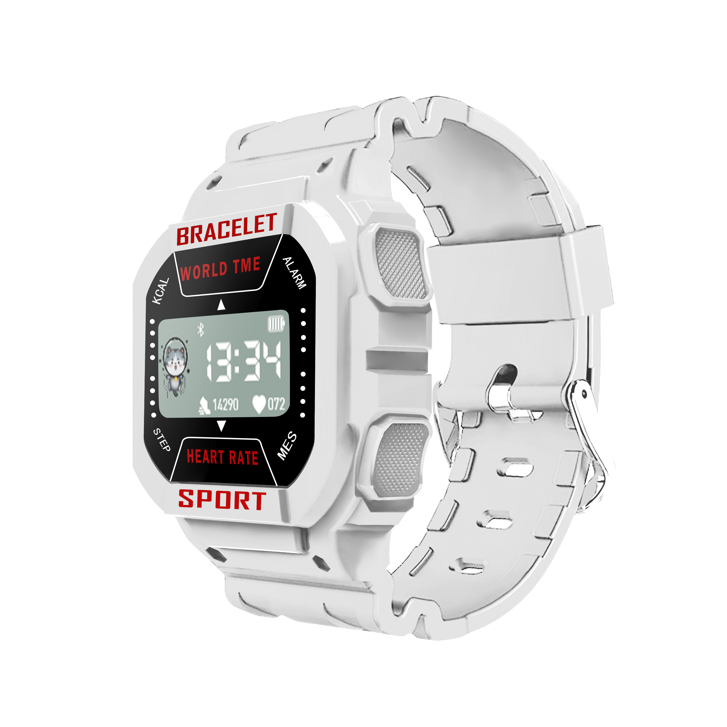 Smart  Watch I3 Bluetooth Heart Rate Sports Weather Monitor Messages Smart Bracelet White