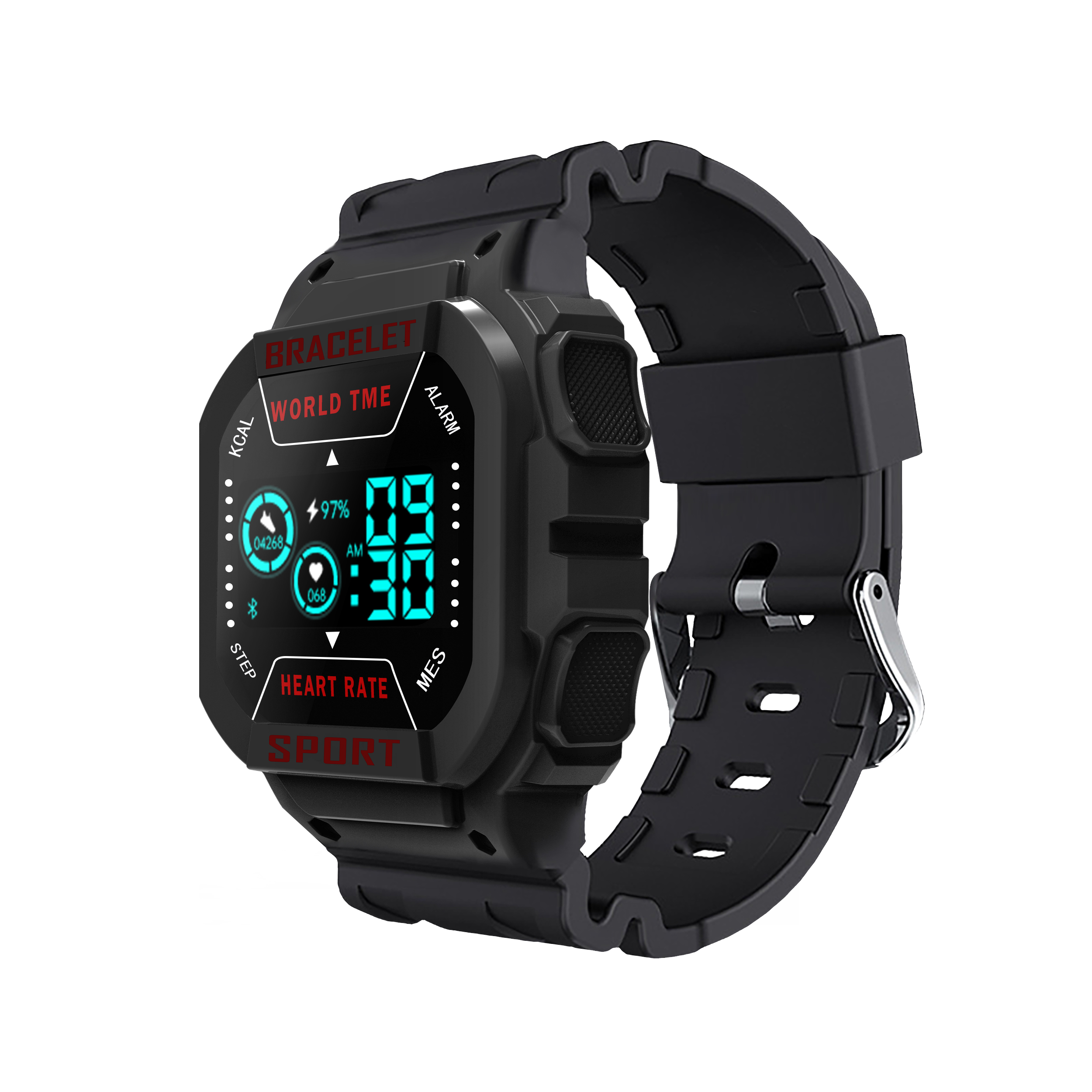 Smart  Watch I3 Bluetooth Heart Rate Sports Weather Monitor Messages Smart Bracelet Black