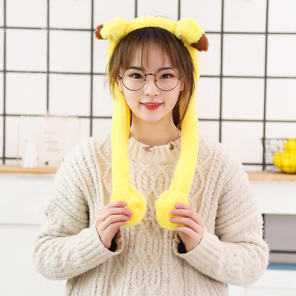 Cute Animal Shape Hair Clasp Moving Lighting Ears by Pressing Hair Band Pikachu