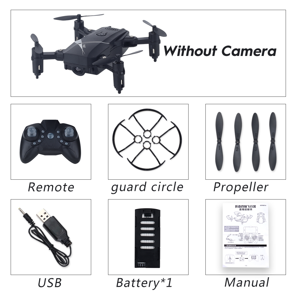 LF602 Wifi FPV RC Drone Quadcopter FPV Profesional HD Foldable Camera Drones Altitude Hold Standard 1 battery black
