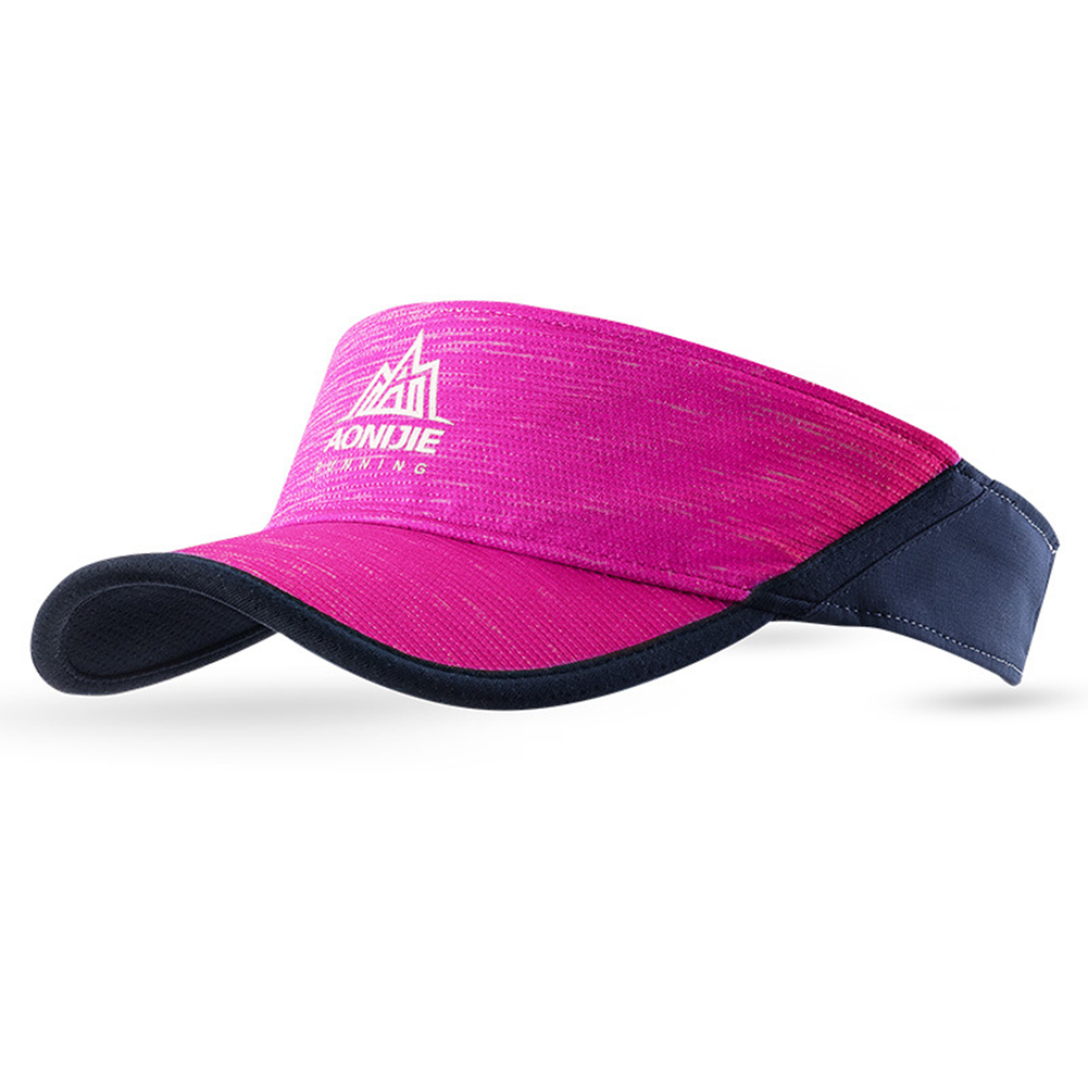 Stylish Visor Cap Adjustable Sun Hat Peaked Cap for Outdoor Running Sports Birthday Festival Gift Rose red_free size