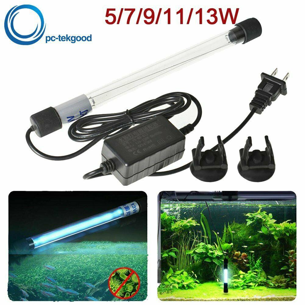 Uv Light Aquarium Submersible Sterilizer Pond Germicidal Clean  Lamp Fish Tank US Plug 9w