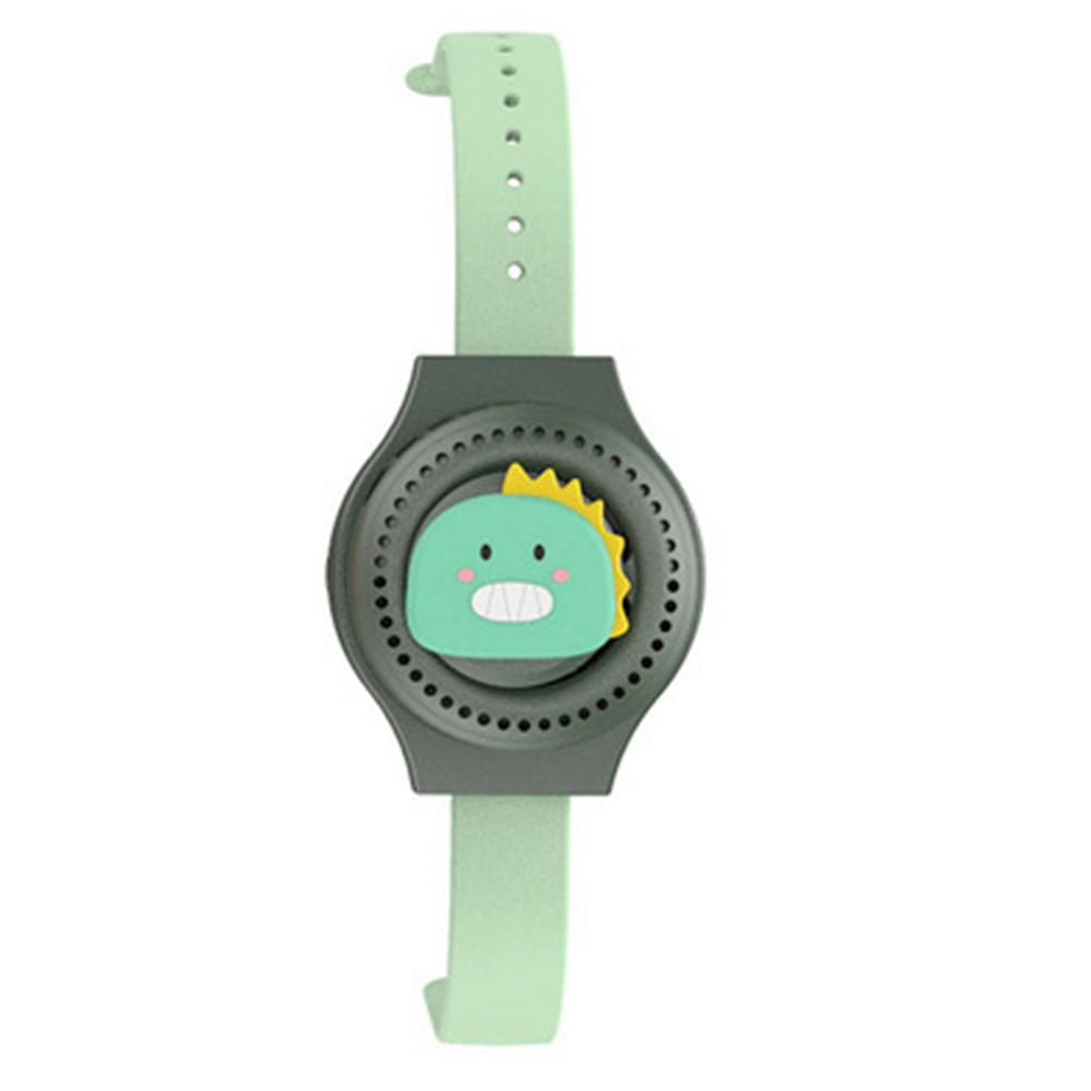 Multifunctional Cartoon  Watch Leafless Fan Usb Charging Wrist Mini Fan For Children Dinosaur