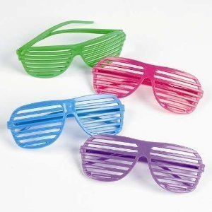 [EU Direct] 1 Pcs Glasses Creattive Shutters Style Party Wedding Bright Color Charming Night Club Concert Props colorful