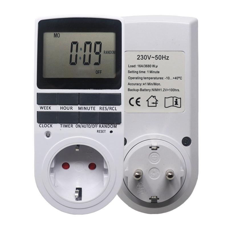 Electronic Digital Timer Switch EU US BR Plug Kitchen Timer Outlet 230V Programmable Timing Socket European regulations