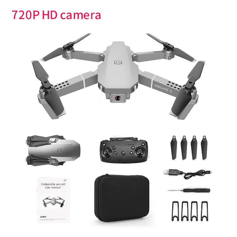 E68 Remote Control Upgraded Drone Wide Angle 4K 720P 1080P HD Camera Quadcopter Foldable WiFi FPV Four-axis Drone Altitude Hold 720P camera