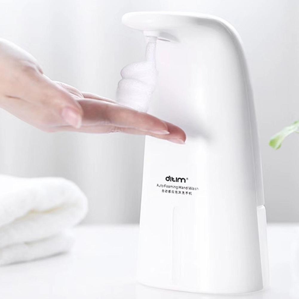 Intelligent Automatic Induction Foam Washing Infrared Soap Dispenser kitchen toilet white