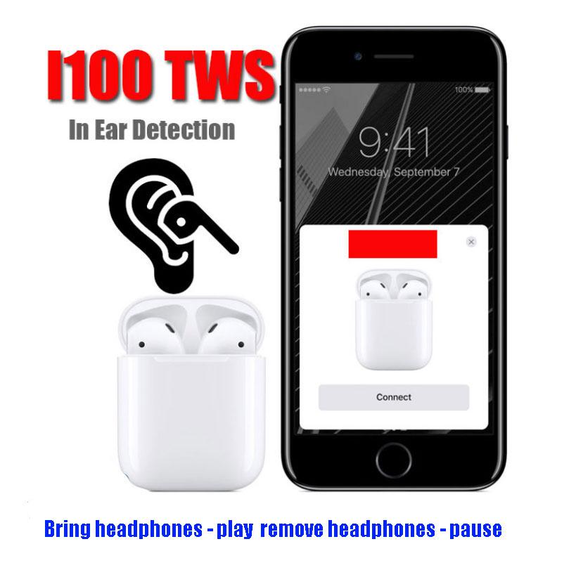 [EU Direct] i100 TWS Air Smart Sensor 1:1 Pods Bluetooth Wireless Earphone Separate Use Bass Earphones