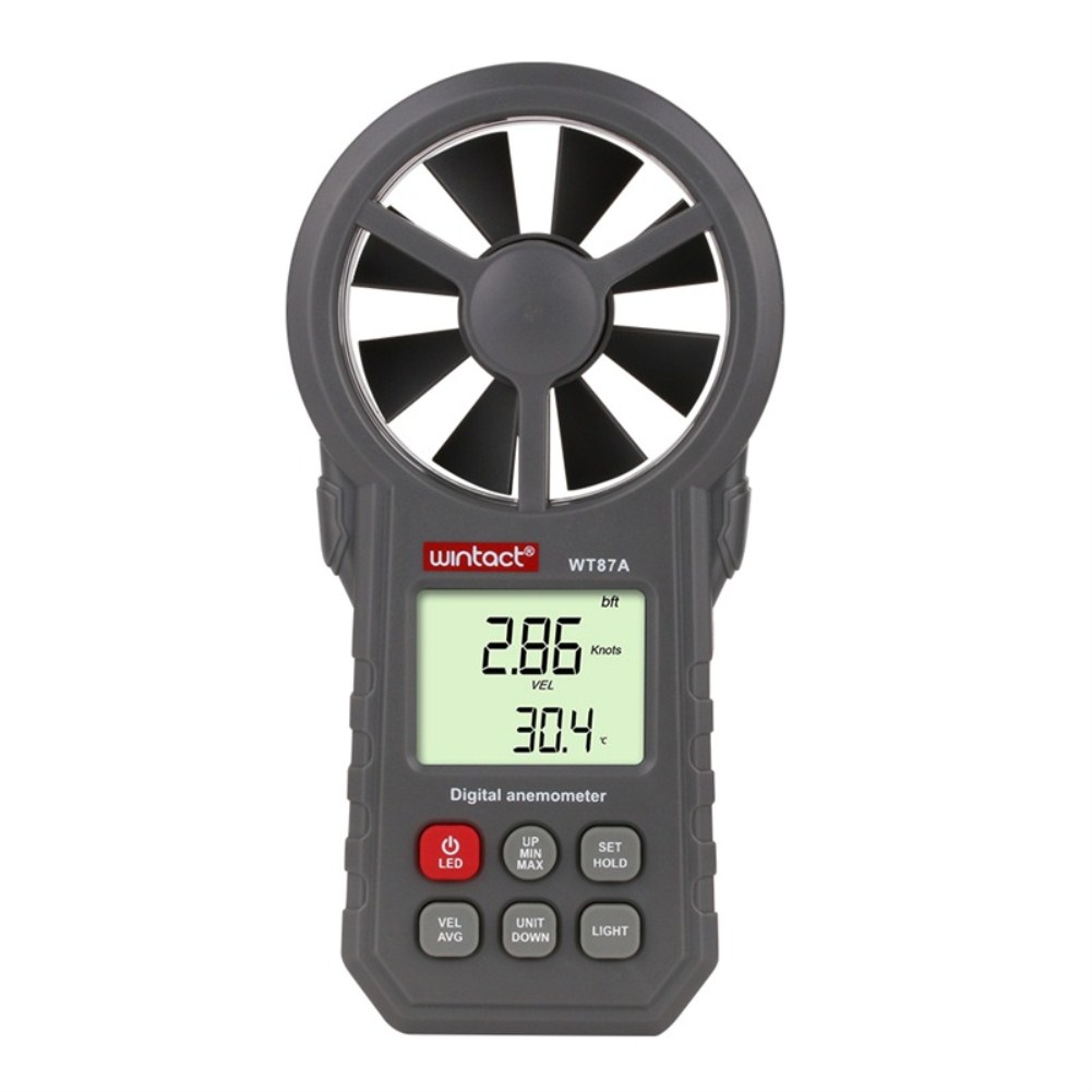 Anemometer Thermometer Wind Speed Gauge Meter Anemometro Windmeter 30m/s LCD Digital Hand-held Measure Tool  WT87A