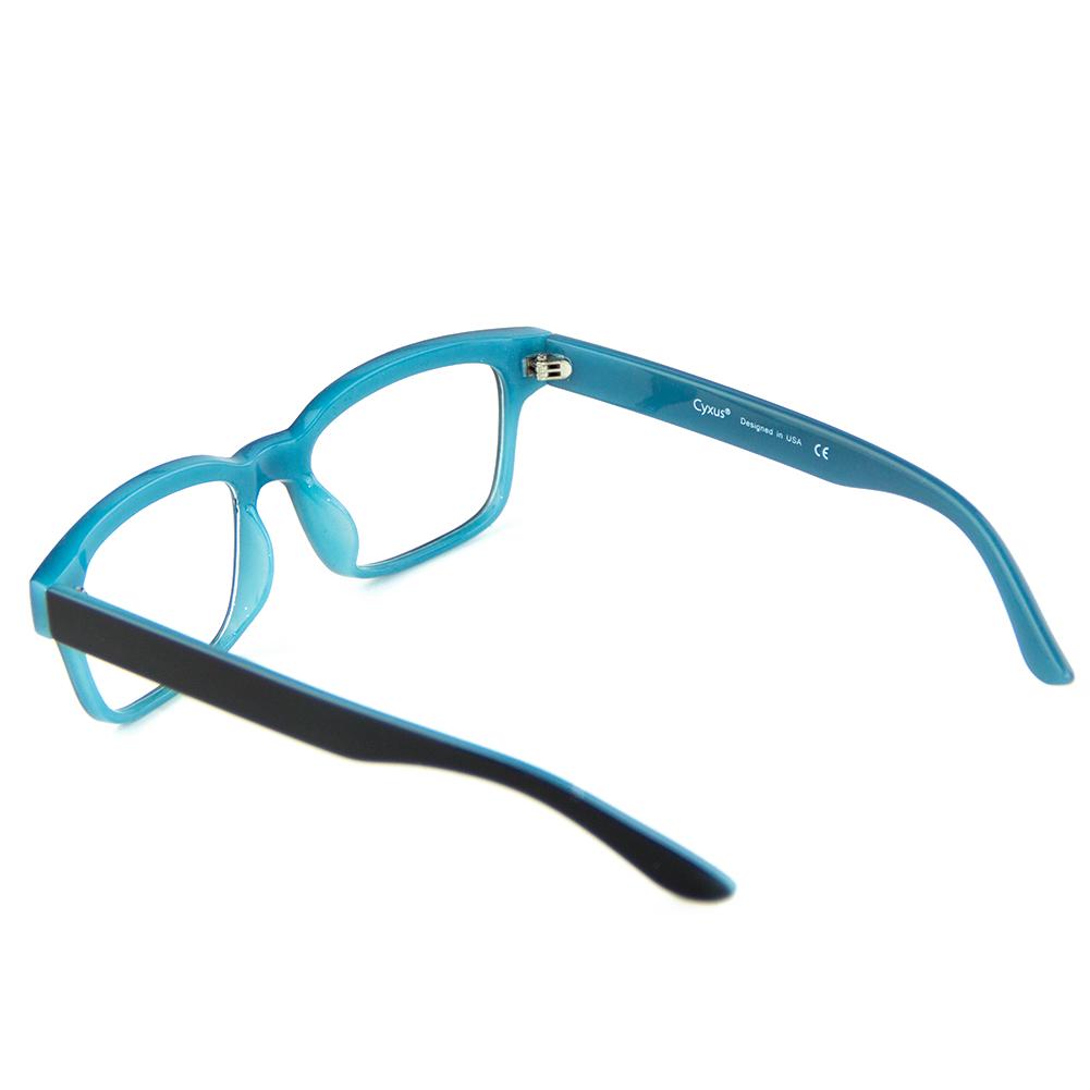[US Direct] Cyxus Blue Light Blocking [Lightweight TR90] Glasses Anti Eye Strain Headache Computer Eyewear, Unisex (8323T01, Black) Block Droplets Blue_M
