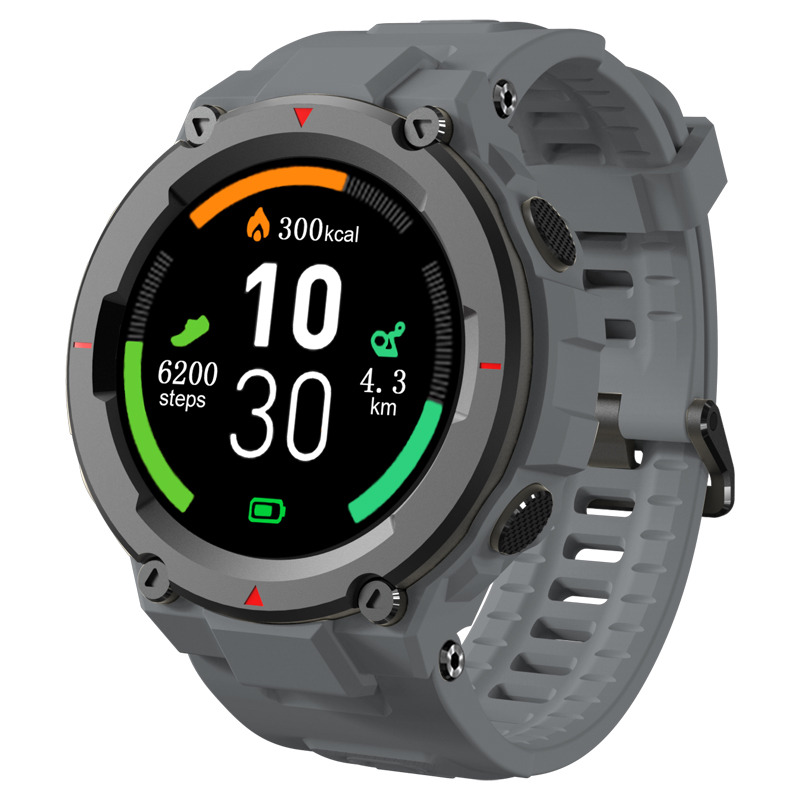 Smart Watch Heart Rate Blood Pressure Monitor Weather Music 30-day Battery Outdoor Smartwatch gray
