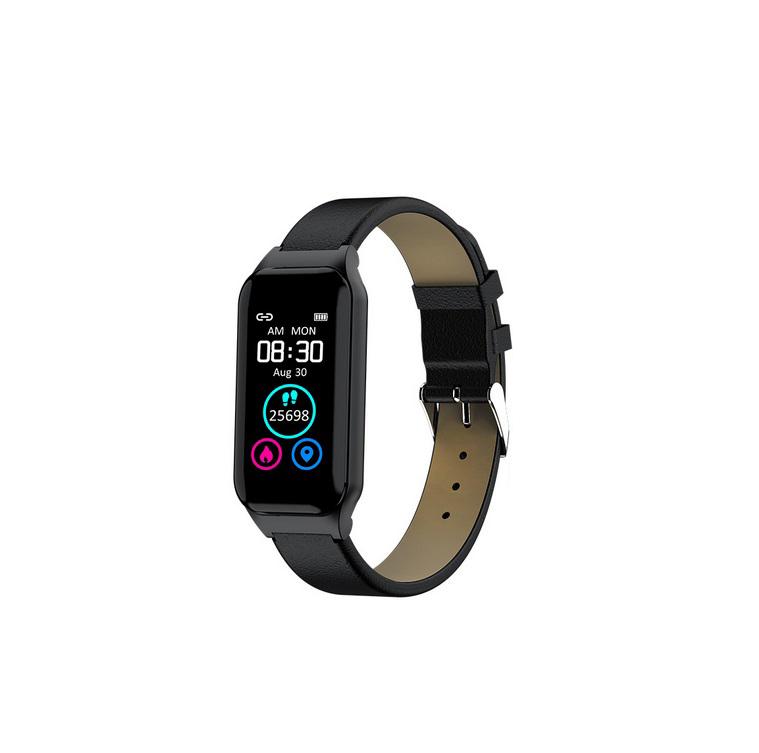 XM1 Bluetooth Earphone Sports Bracelet Color Screen Heart Rate Blood Pressure Monitor  Black