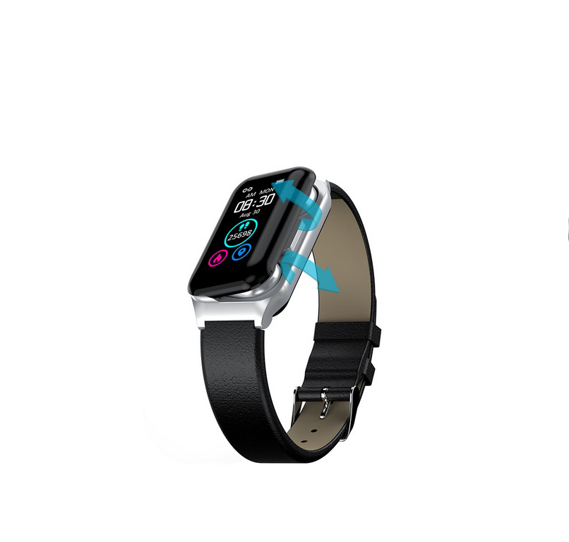 XM1 Bluetooth Earphone Sports Bracelet Color Screen Heart Rate Blood Pressure Monitor  Silver