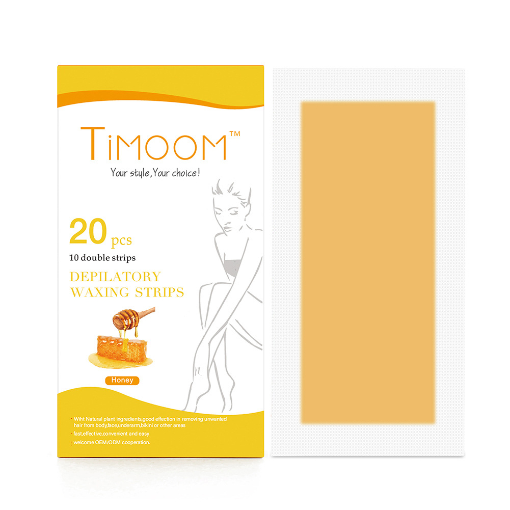 20 Pcs Professional Hair Removal Wax Strips Double Sided Cold Wax Paper for Bikini Leg Body Face