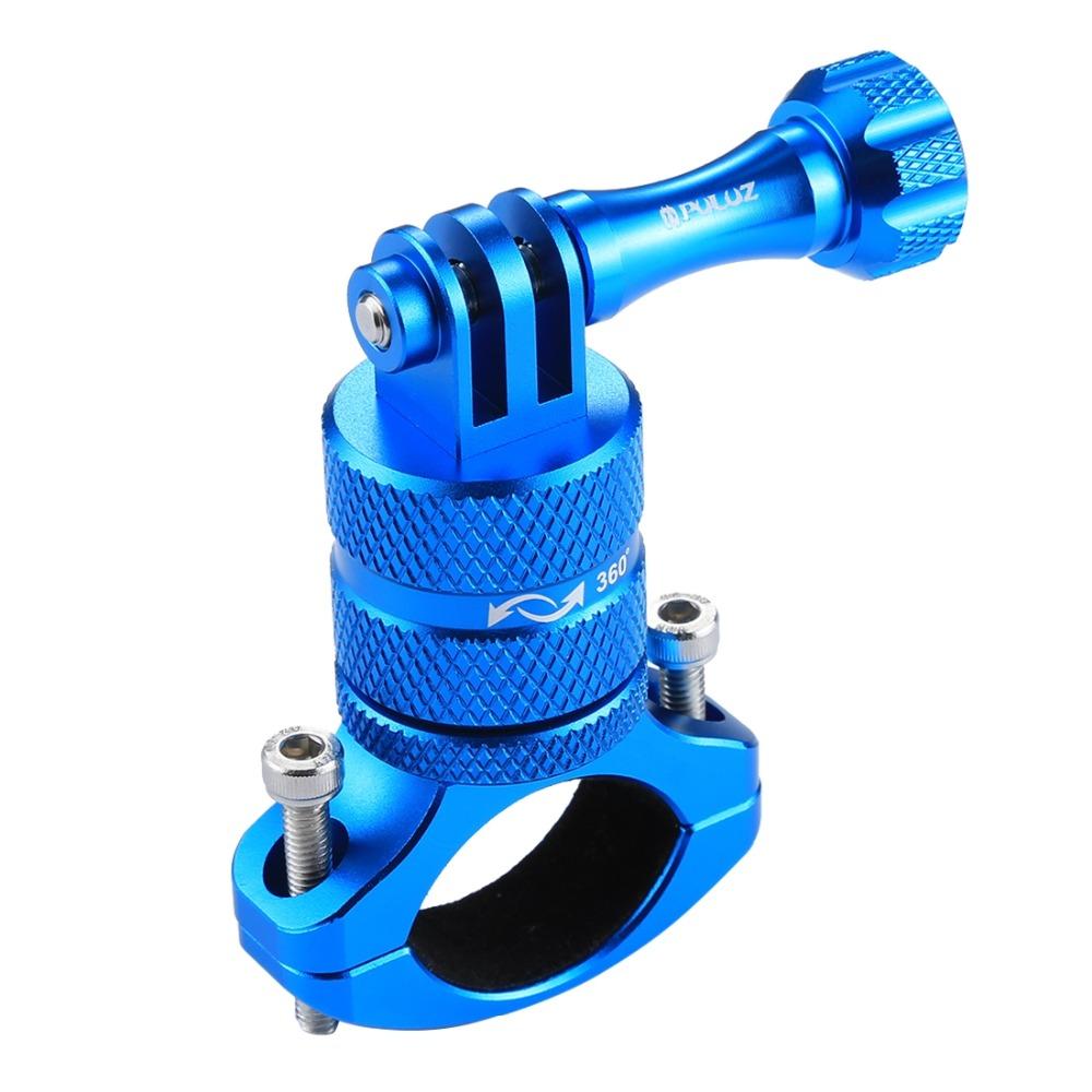 PULUZ 360 Degree Rotation Bike Aluminum Handlebar Adapter Mount for GoPro GoPro Hero4/5/6 blue