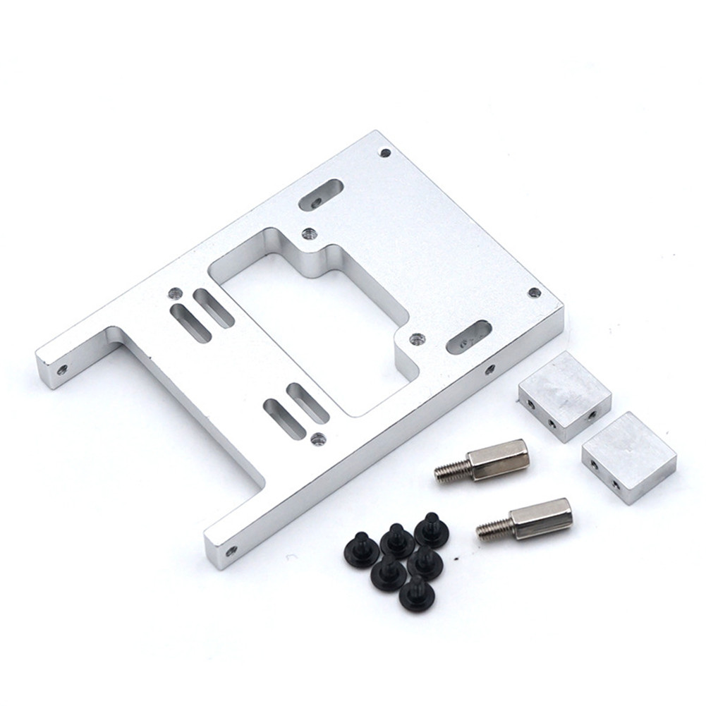1 set Metal Fixed Mount Upgrade Modify Metal Servo Warehouse with Screws for RC Model Car Spare Part WPL Military Truck Universal Silver