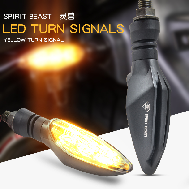 2pcs/set Motorcycle Signal Lights Waterproof Turn LED Direction Lights as shown
