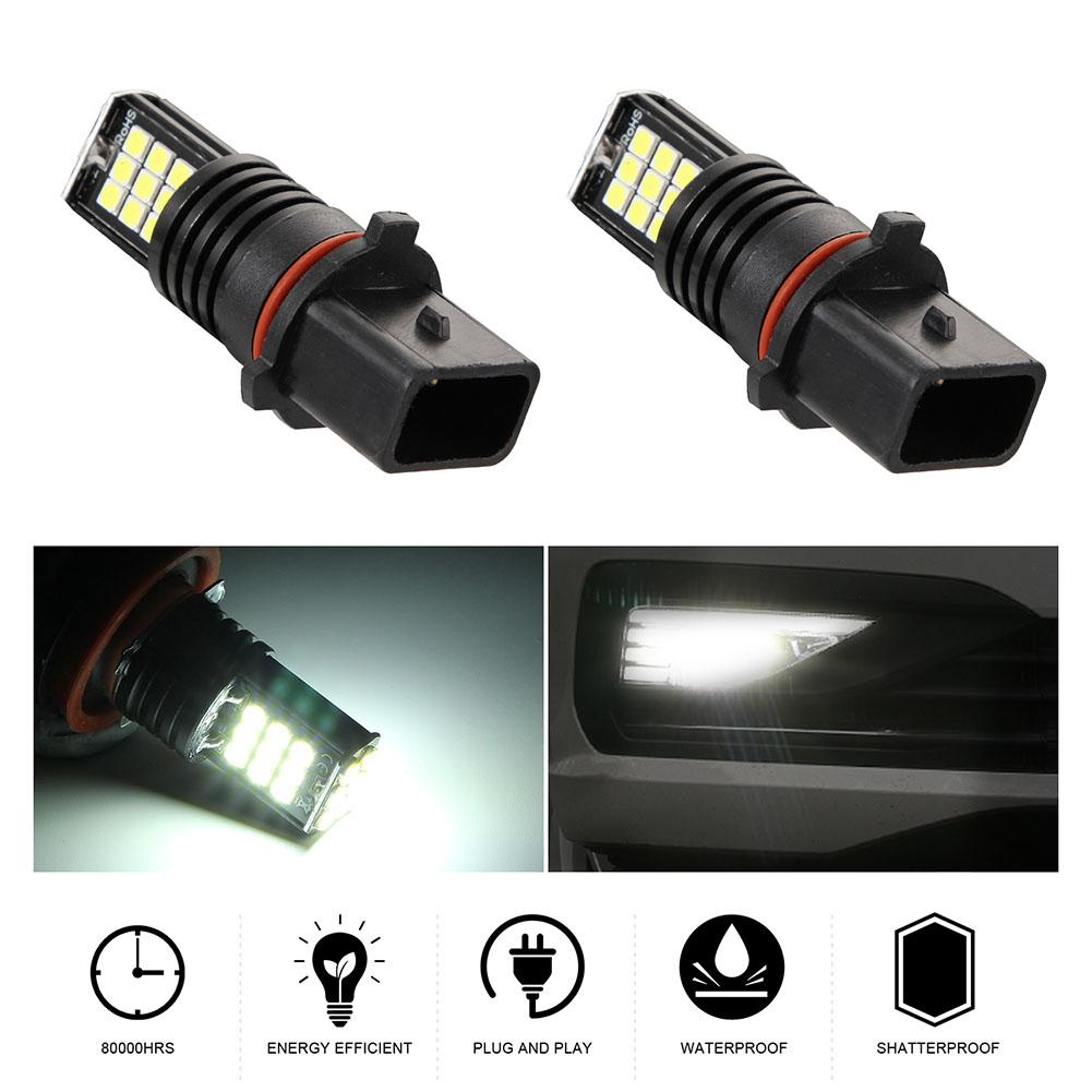 2pcs/set P13W 8 Rows 24SMD 12V 24W LED High Bright Lights Bulb