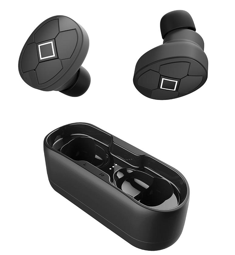 W5 Bluetooth V5.0 Earphone Wireless Earphones Stereo Sport Wireless Headphones Earbuds headset 300mAh Charging Power black