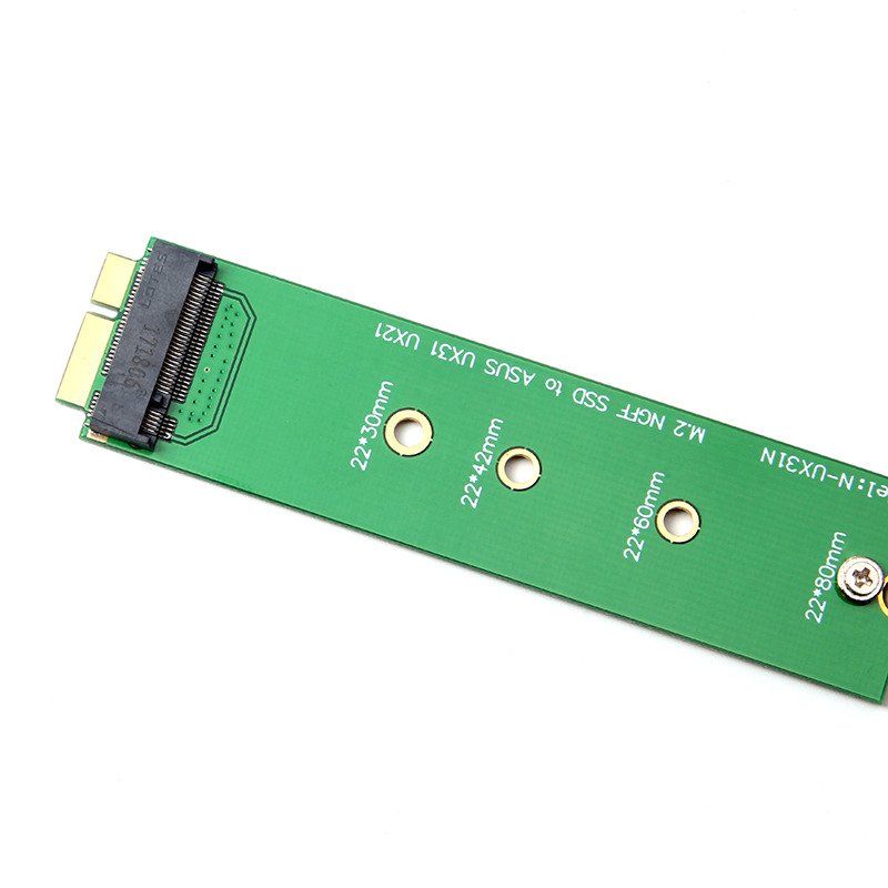 M2 NGFF SSD to 18-pin Adapter Card SSD for ASUS UX31 UX21 SSD Conversion Card green