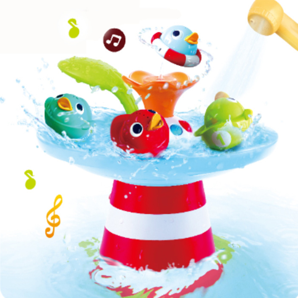 Baby Bathing Toys Duck Automated Spout Water Musical Fountain Toy for Kids Water spray duck