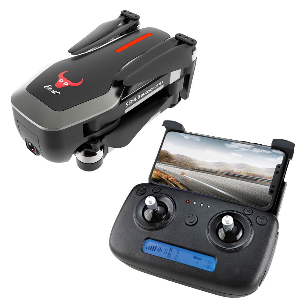 ZLRC Beast SG906 GPS 5G WIFI FPV With 4K Ultra clear Camera Brushless Selfie Foldable RC Drone Quadcopter RTF  black2 battery