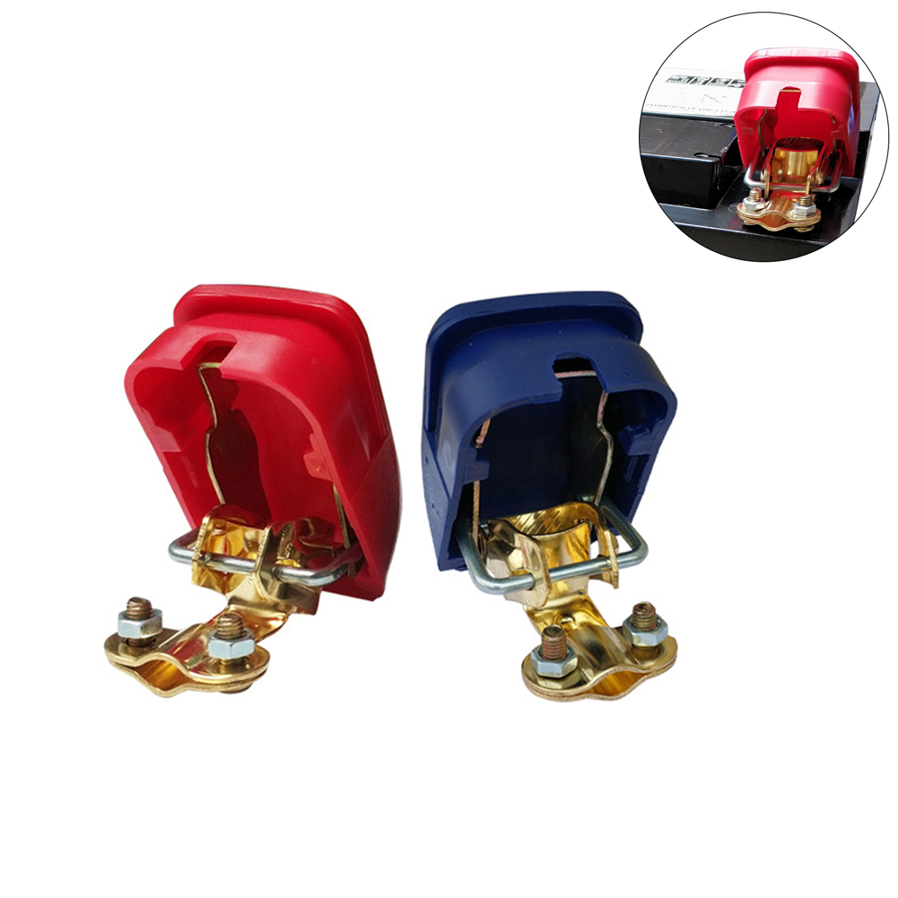 Car Battery Terminals Connector Switch Clamps Quick Release Positive and Negative Connection Terminal Red blue