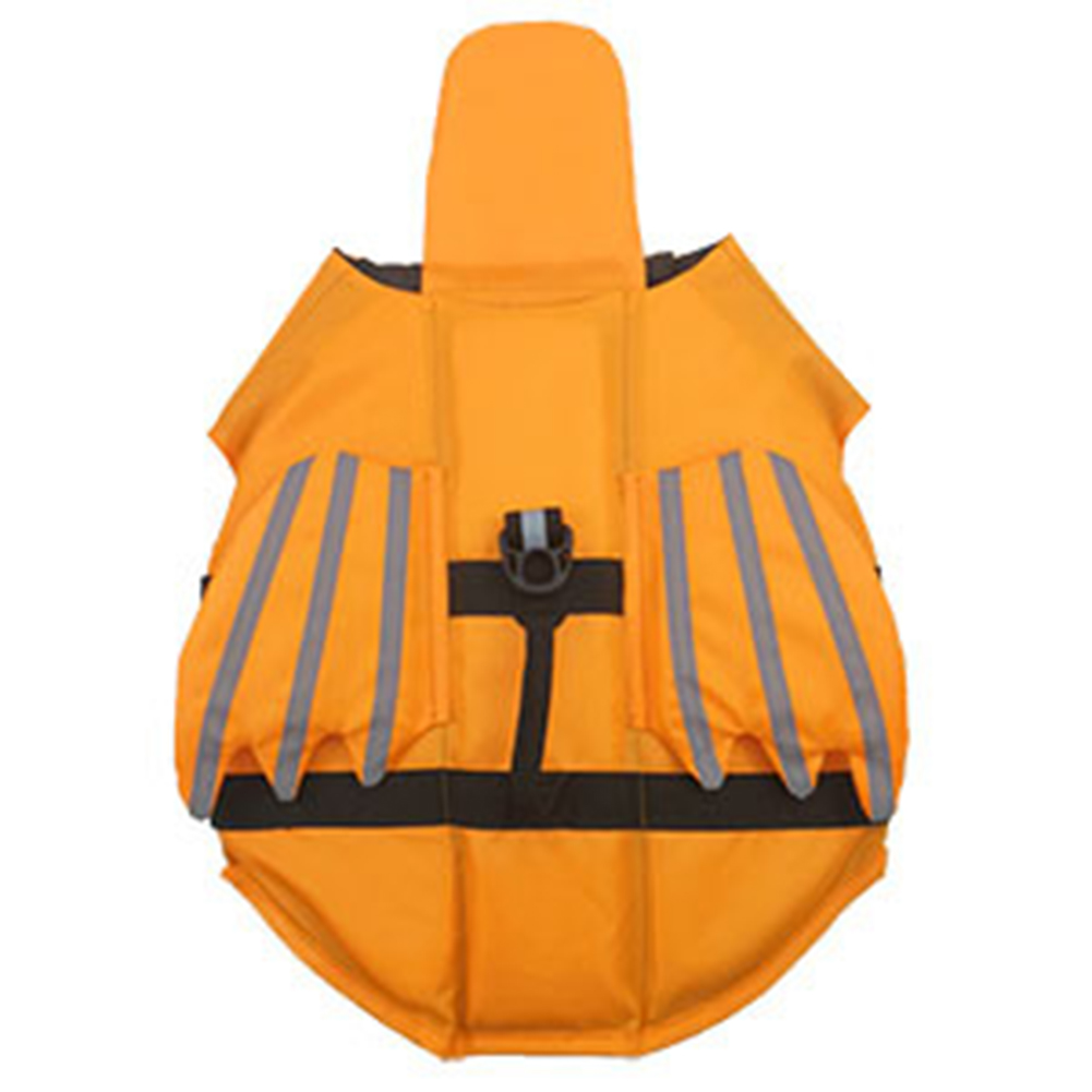 Reflective Pet Life  Jacket Angel Wings Shaped Dog Life Vest Pet Outdoor Swimwear Orange_M