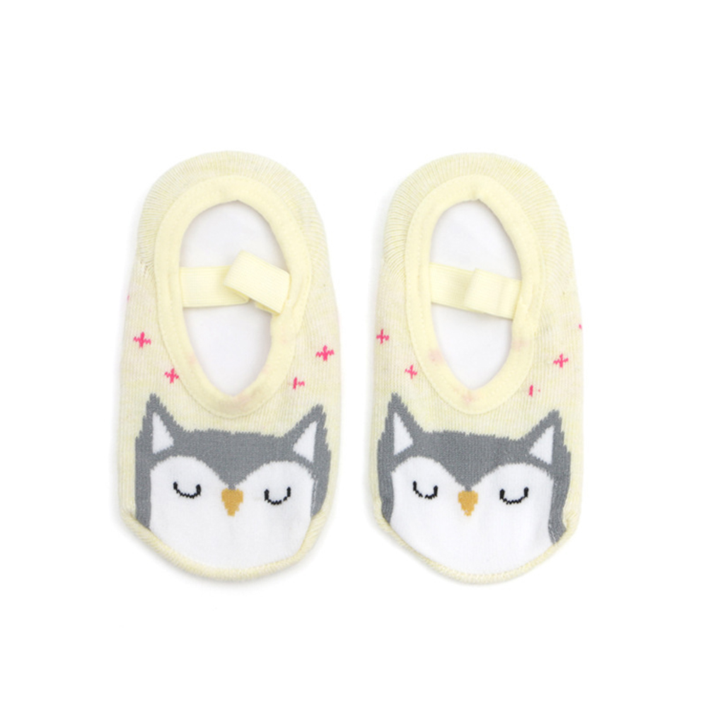 Cute Non-slip Cartoon Pattern Boat Socks for Kids Wear owl_14-16 (recommended 3-5 years old)