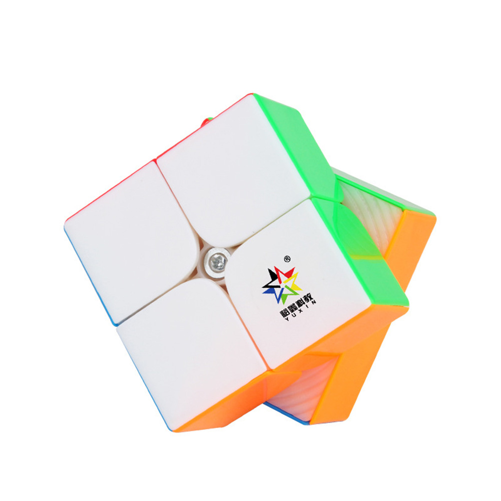 Yu xin Magic Cube 2x2 Stickerless Magnetic Smooth Speed Cube Educational Toy color