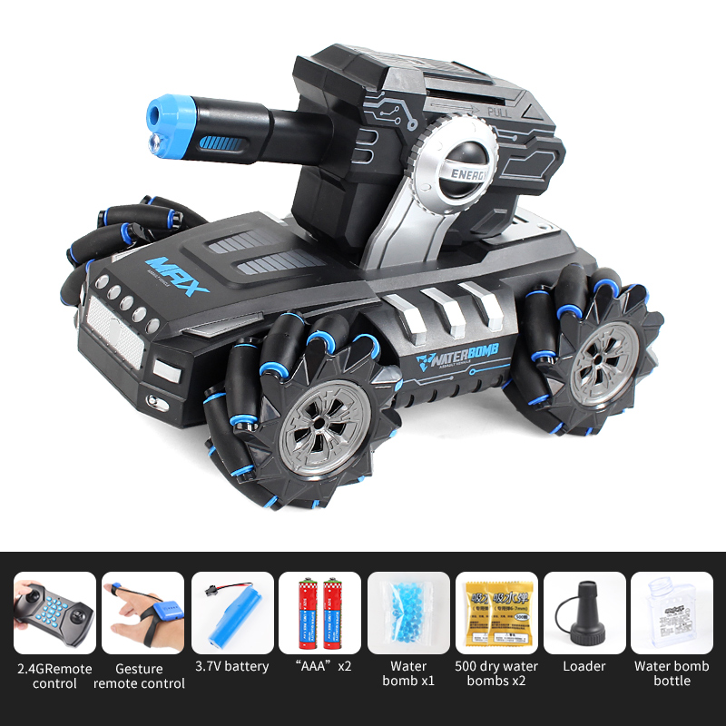 2.4G Drift Truck 360Degree Rotation Music Light Toy Double Remote Control  RQ2085 blue