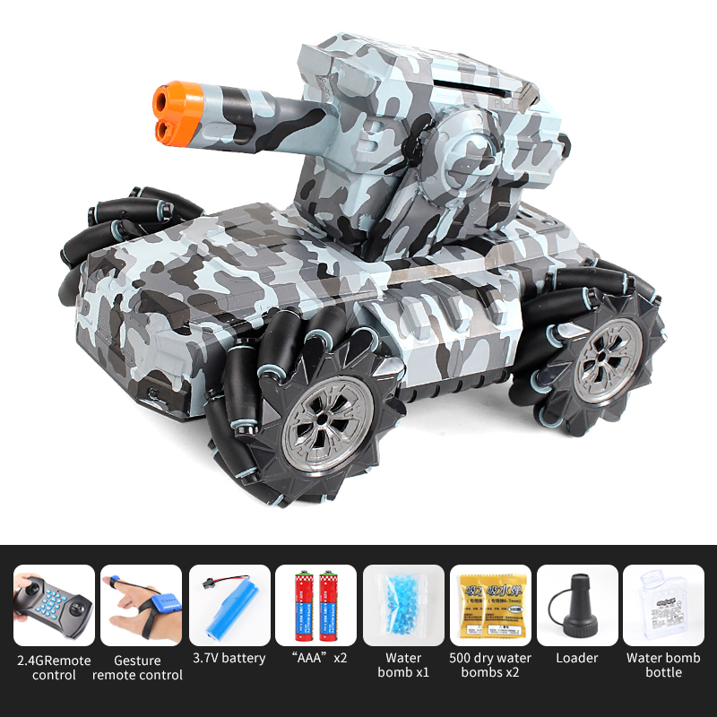 2.4G Drift Truck 360Degree Rotation Music Light Toy Double Remote Control  RQ2085 Camo Green