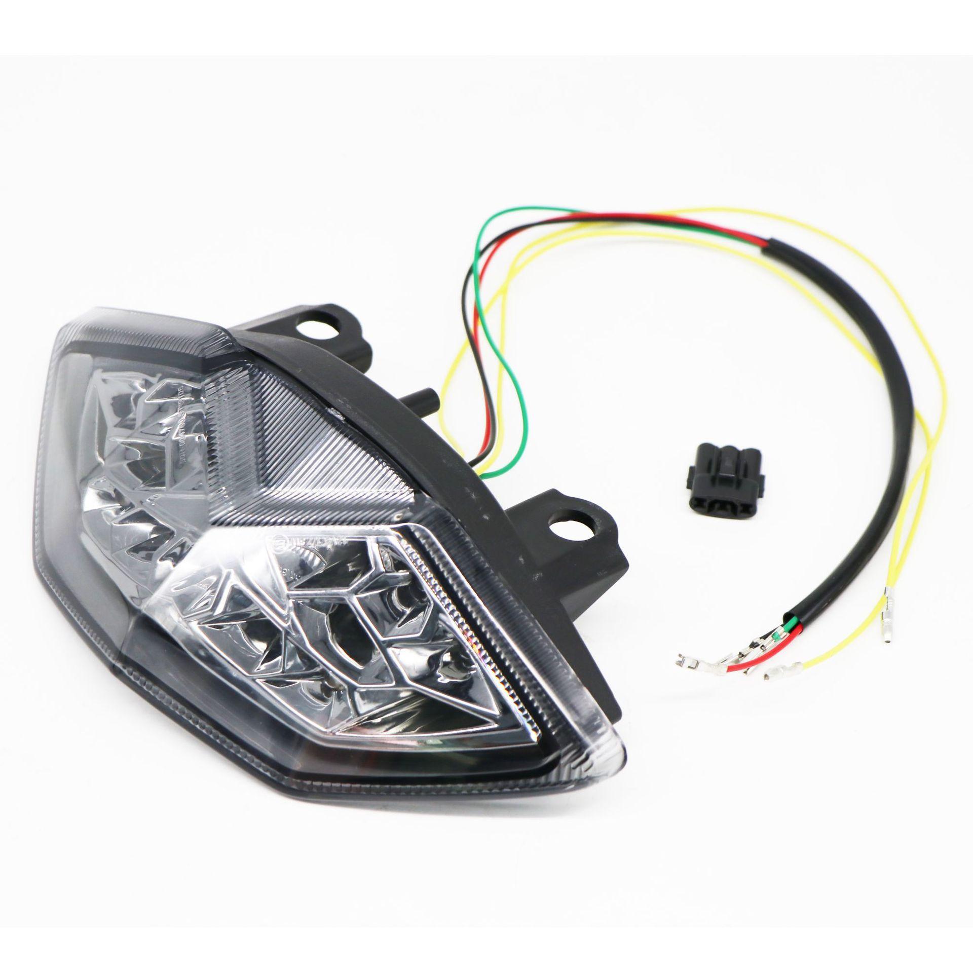 For Kawasaki Z1000 10-13 Rear Tail Light Brake Turn Signals Integrated Chrome LED Light Transparent shell
