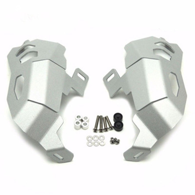 For BMW R1200GS LC R1200RS 13-19 GS Adventure Motorcycle Engine Cylinder Head Guards Protector Cover Silver