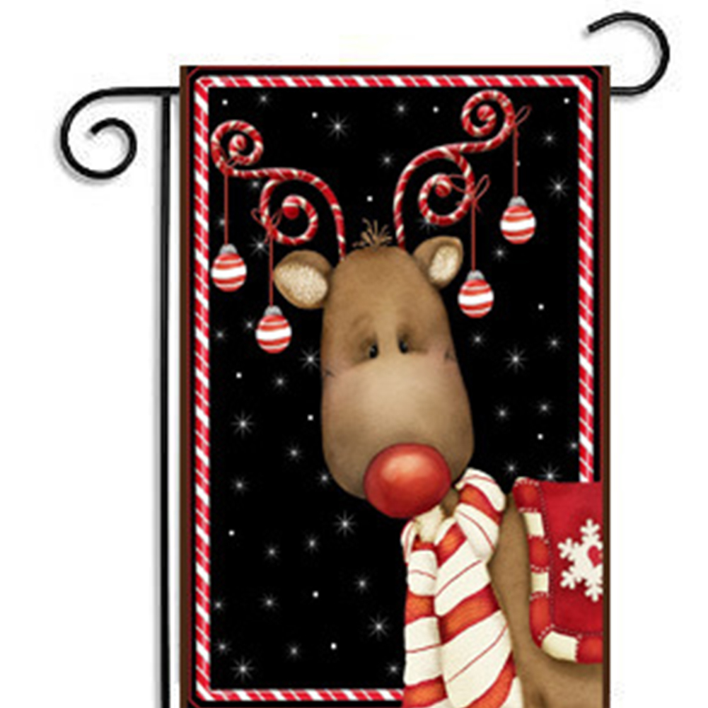 American Style Garden Flag Christmas Seris Decorative Props 30*45CM (Excluding Flagpole)
