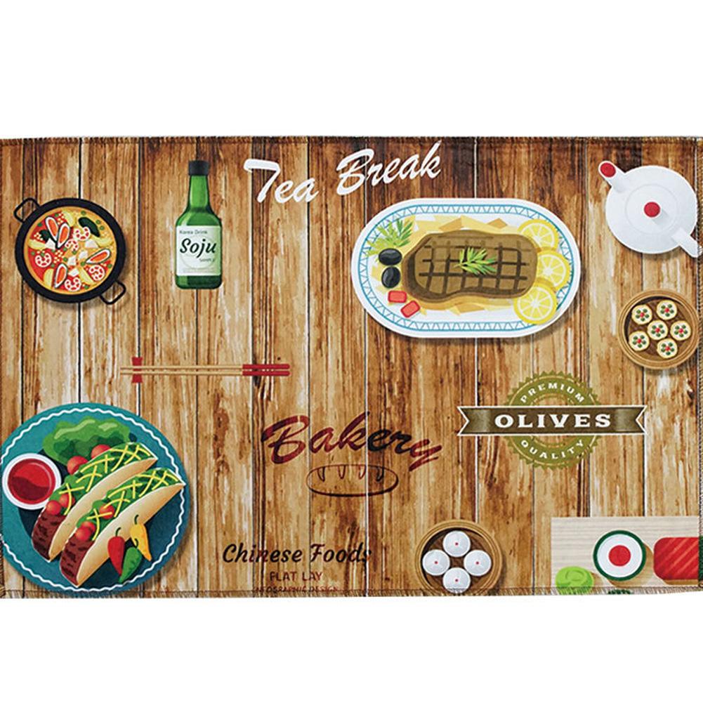 Cartoon Printing Carpet Nonslip Floor Mat for Home Entrance Doormat Absorbent Bedroom Kitchen Rug Gourmet table_40 * 60cm