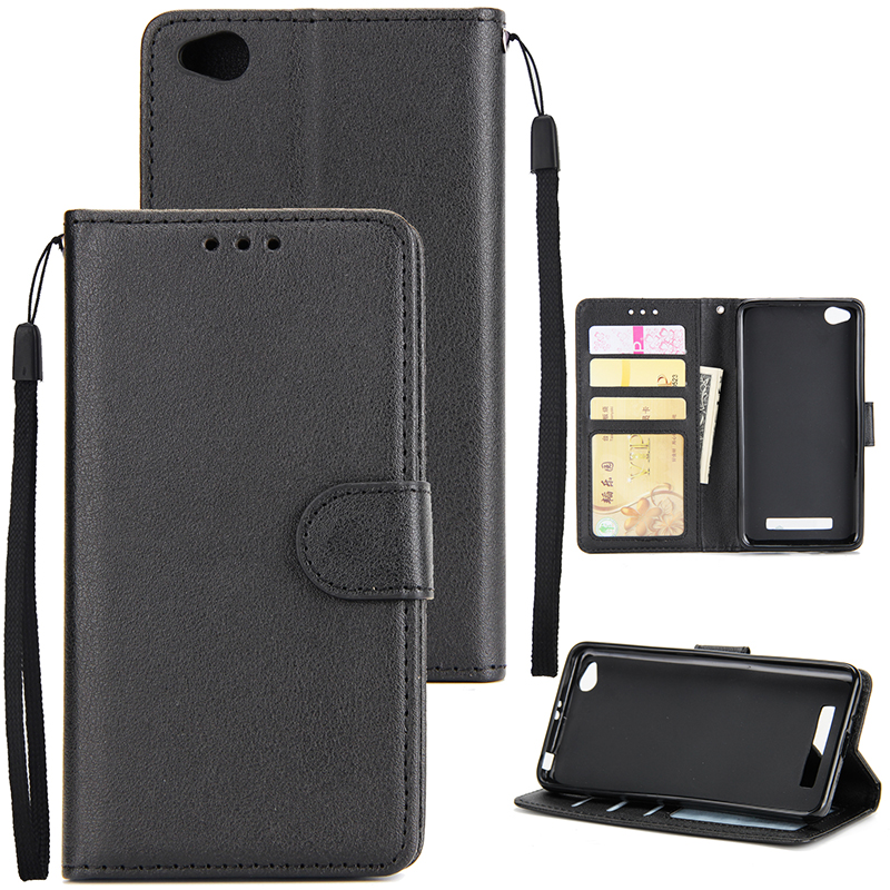 Ultra Slim Shockproof Full Protective Case with Card Wallet Slot for Xiaomi Redmi 4A black