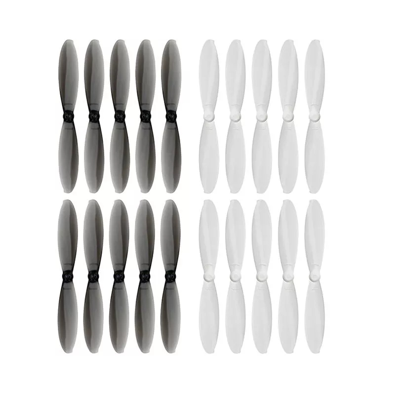 10 Pairs KINGKONG / LDARC 56mm 1.0mm Hole 2-blade Propeller for RC Drone FPV Racing Black + white