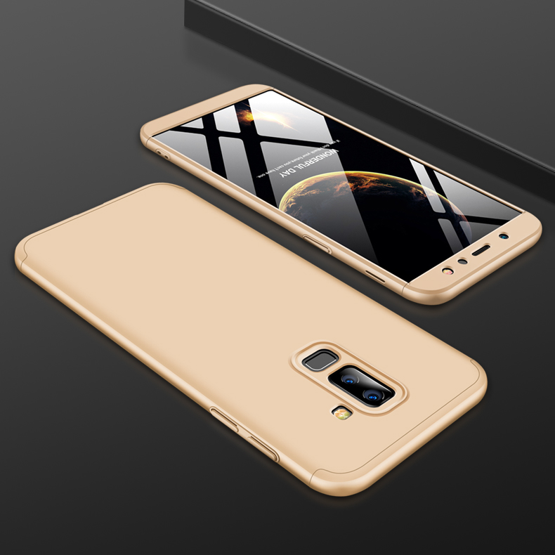 For Samsung A6 Plus 2018 Ultra Slim 360 Degree Non-slip Shockproof Full Protective Case Gold