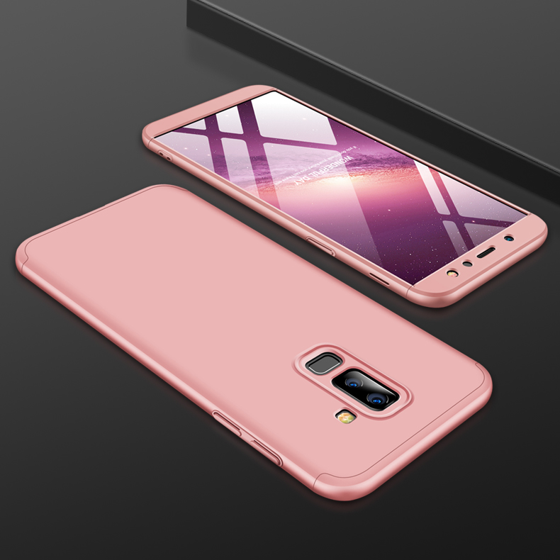 For Samsung A6 Plus 2018 Ultra Slim 360 Degree Non-slip Shockproof Full Protective Case Rose gold