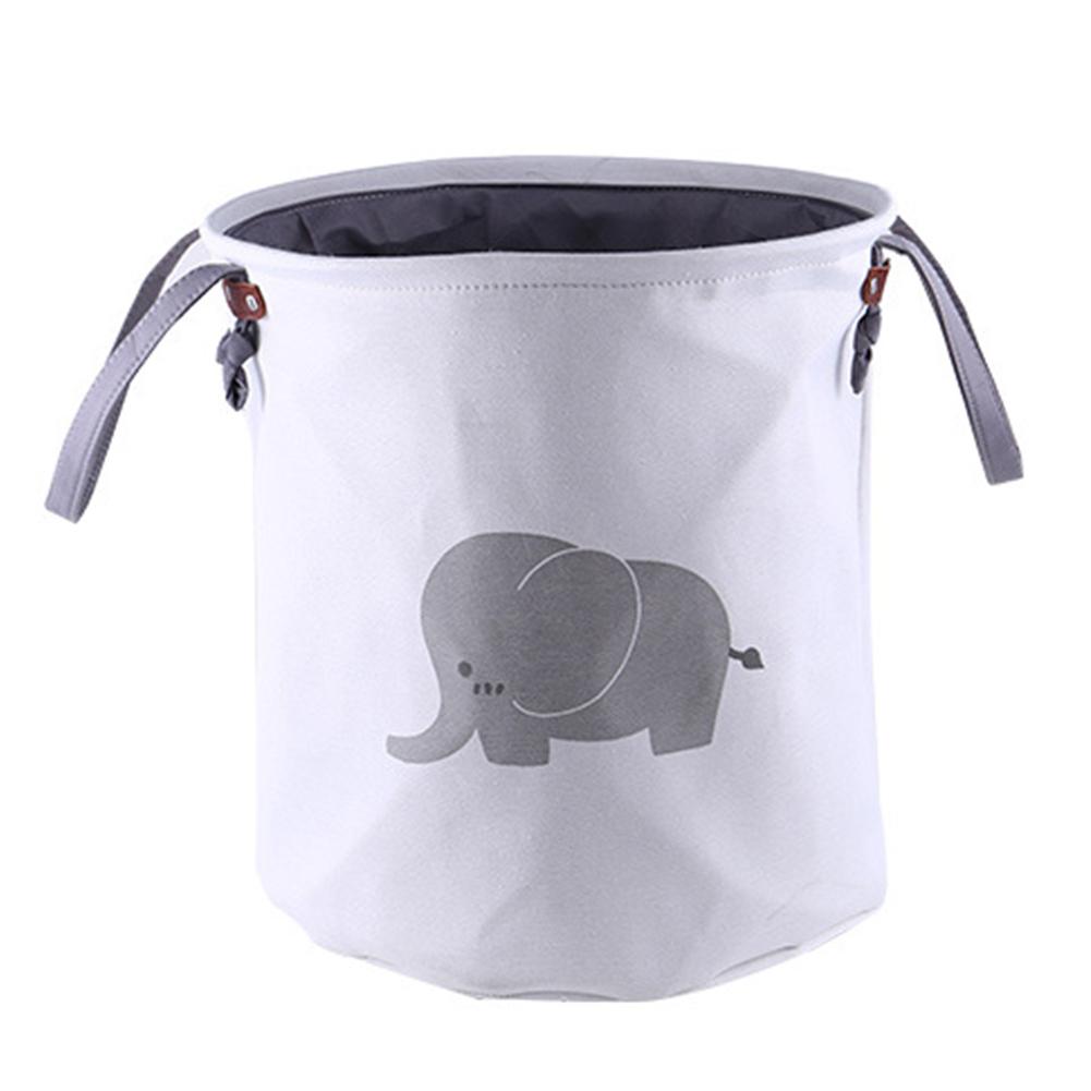 Cartoon Folding Dirty Clothes Basket Household Cloth Laundry Basket Storage Basket Elephant