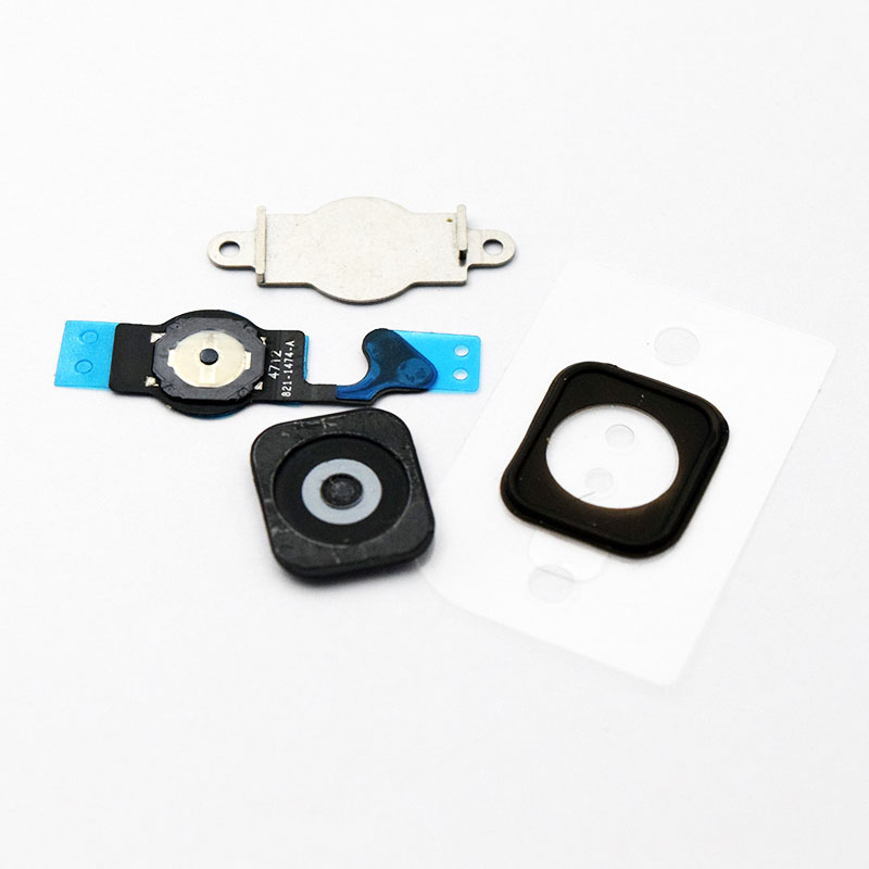 For iPhone 5 5G Home Button Flex Home Button Menu with Flex Cable Key Cap black