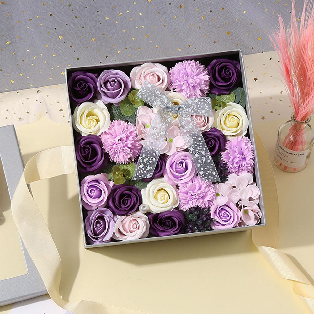 1 Pcs Creative Simulation Rose Handmade Soap Gift Box Home Decoration Unique Gift