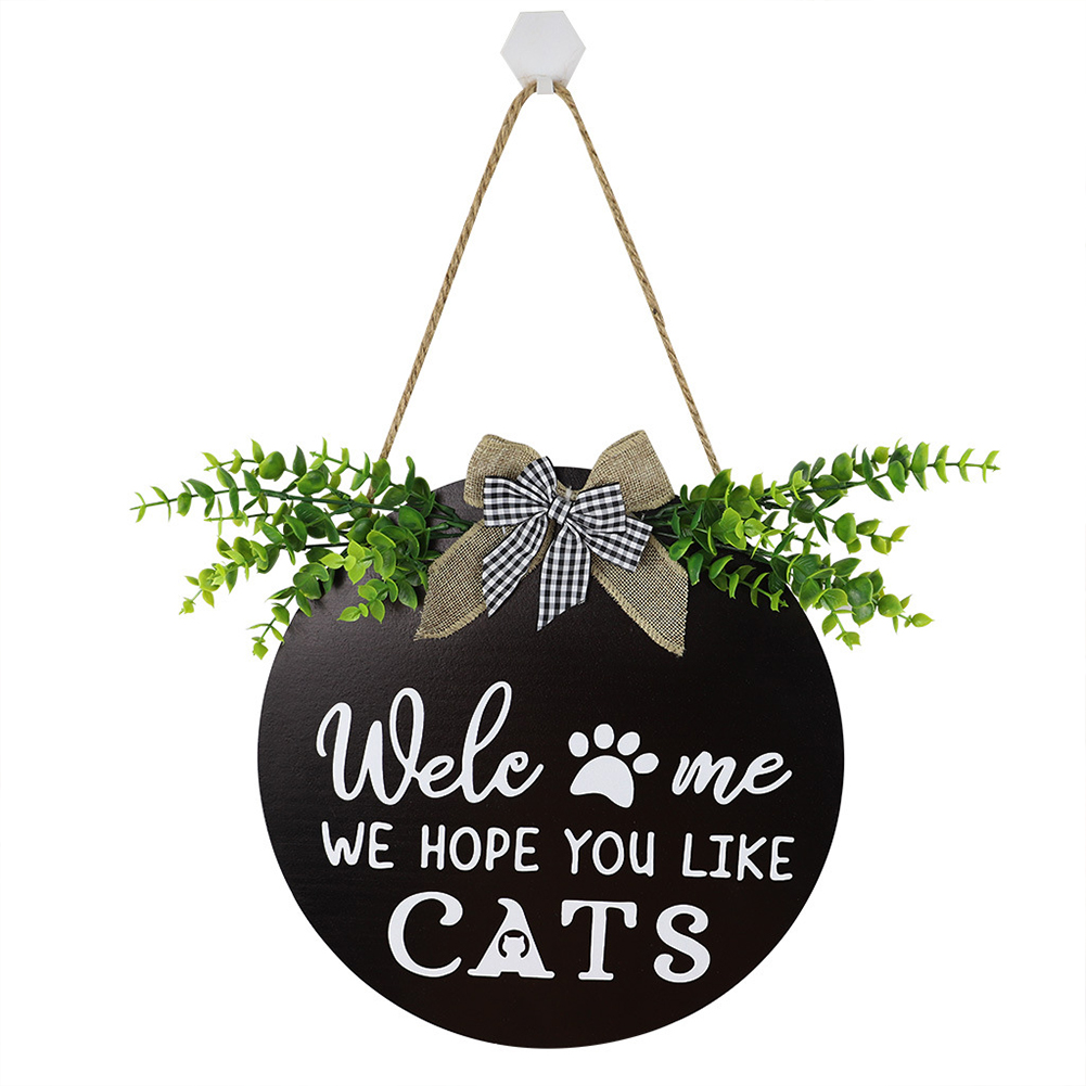 Wooden Welcome Sign Country Style Household Decorative  Ornaments Door Pendant JM00813_cat